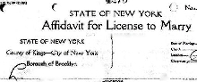 header of sample NYC affidavit page