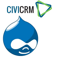 Drupal & CiviCRM logos combined