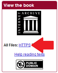 HTTPS link on archive Item that shows hidden files, including meta.xml