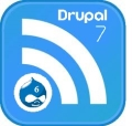 Feeds icon showing move from Drupal 6 to 7