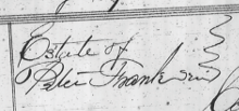 header of estate papers