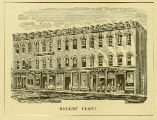 building sketch with hedges block caption