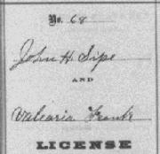 header of marriage register page