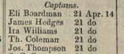 example army register entry listing James as a Captain in 1814
