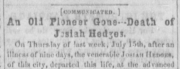 header of obituary from newspaper