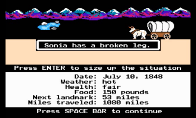 opening screen of simple version