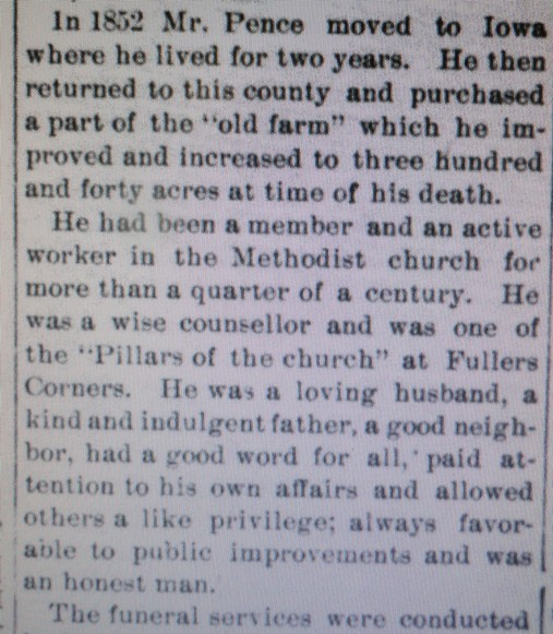 second section of obituary