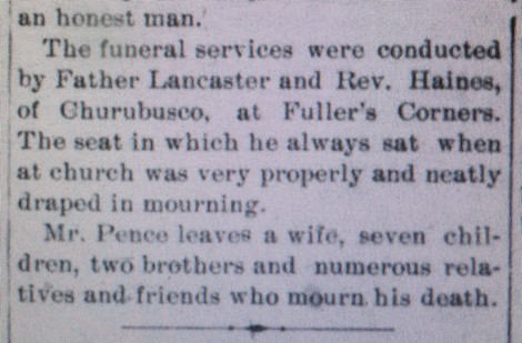 third section of obituary