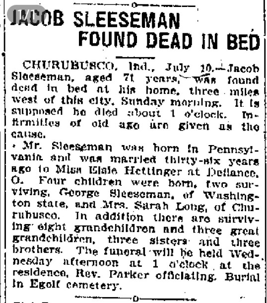 full size obituary from microfilm