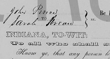 cropped image of marriage record